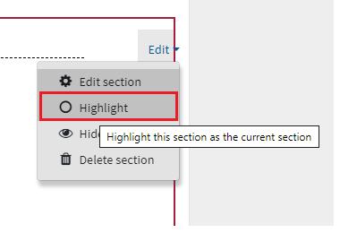 Screenshot of the Highlight radius button