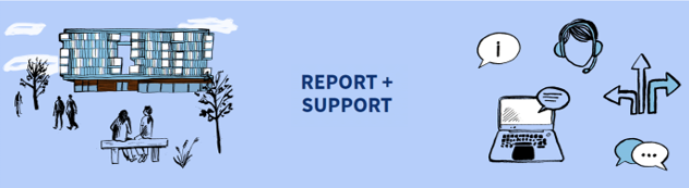button link to Report and Support (QMUL) web service